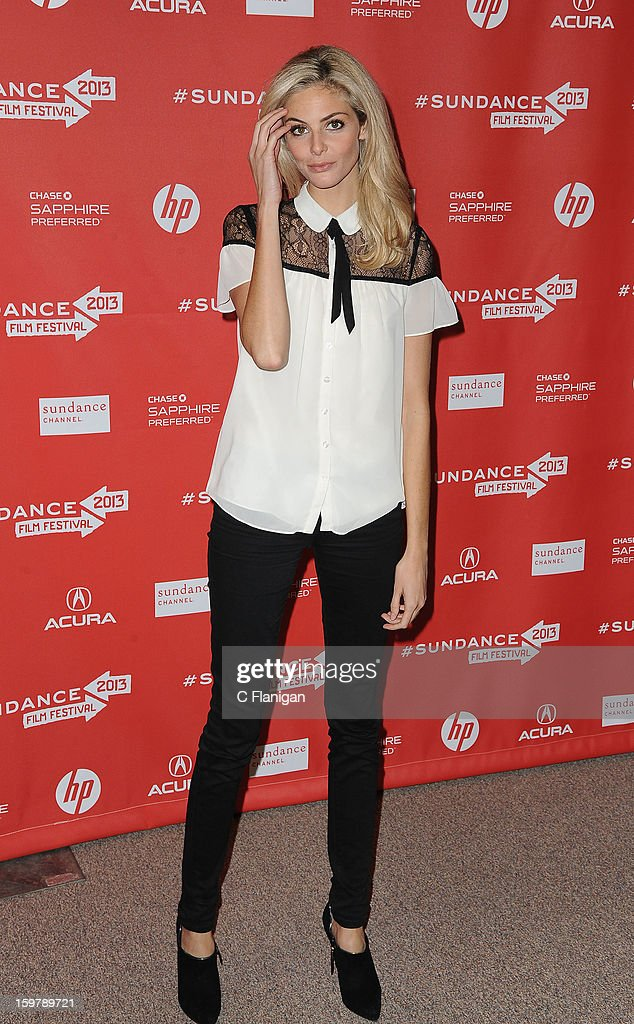 Tamsin Egerton attends 'The Look Of Love' premiere at Eccles Center Theatre during the 2013 Sundance Film Festival on January 19, 2013 in Park City, Utah.
