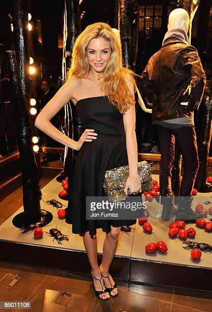 Tamsin Egerton attends the Mulberry London Fashion Week Party at the Mulberry Store New Bond Street on February 23 2009 in London England