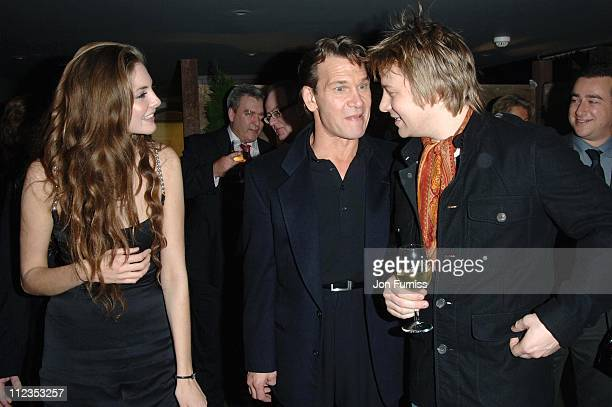 Tamsin Egerton Patrick Swayze and Jamie Oliver during 'Keeping Mum' London Premiere After Party at Floridita in London Great Britain