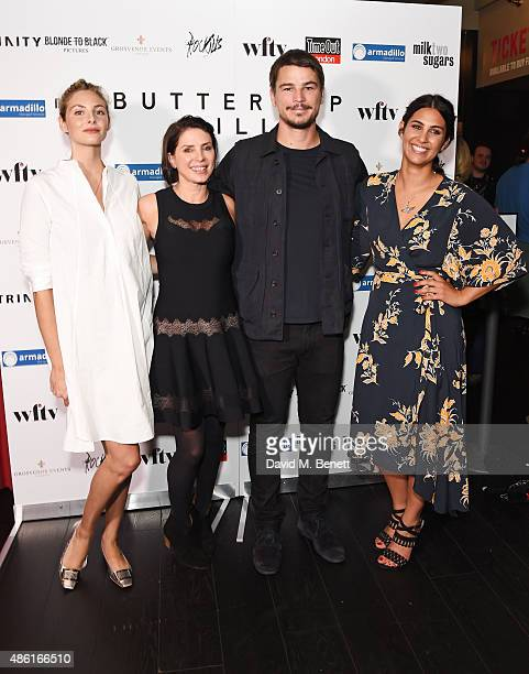 Tamsin Egerton Sadie Frost Josh Hartnett and Emilie RichardFroozan attend the UK Premiere of 'Buttercup Bill' at Curzon Soho on September 1 2015 in...