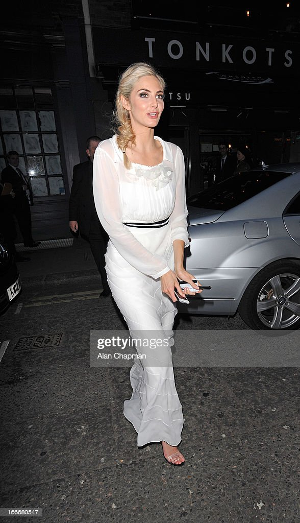 Tamsin Egerton sighting arriving at The Groucho Club following the premiere of The Look of Love on April 15, 2013 in London, England.