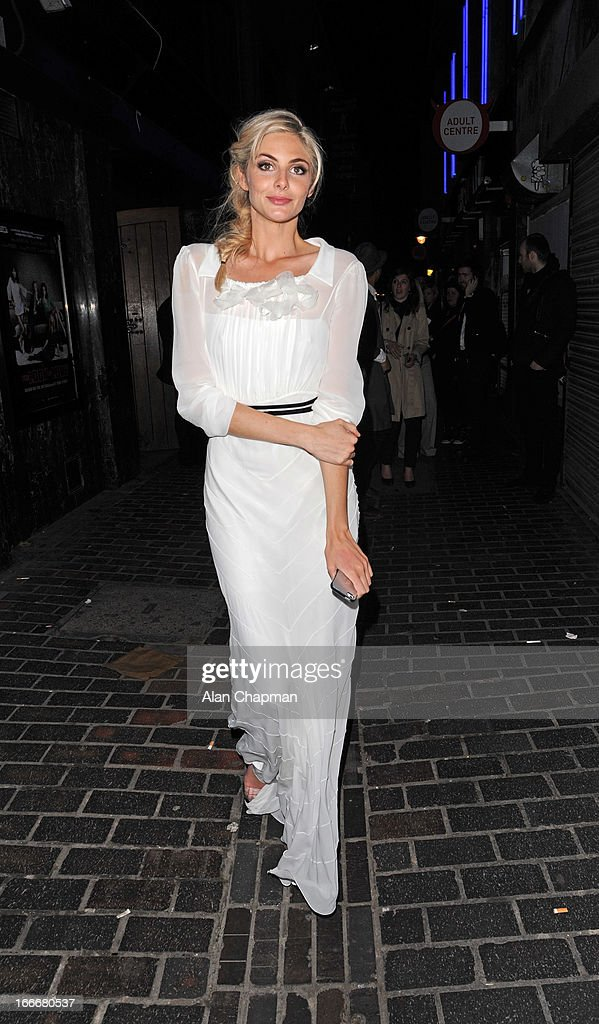 Tamsin Egerton sighting leaving The Box where she attended the after party following the premiere of The Look of Love on April 15, 2013 in London, England.
