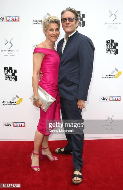 Tamsin Greig and Richard Leaf attending The Southbank Sky Arts Awards 2017 at The Savoy Hotel on July 9 2017 in London England