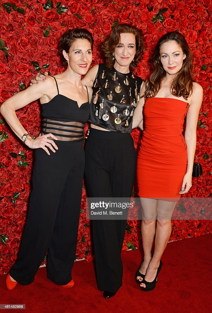 Tamsin Greig Haydn Gwynne and Anna Skellern attend an after party following the press night performance of 'Woman On The Verge Of A Nervous...