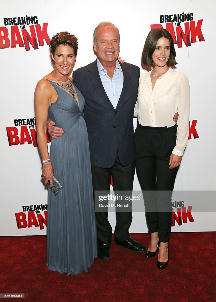 <a gi-track='captionPersonalityLinkClicked' href=/galleries/search?phrase=Tamsin+Greig&family=editorial&specificpeople=814015 ng-click='$event.stopPropagation()'>Tamsin Greig</a>, <a gi-track='captionPersonalityLinkClicked' href=/galleries/search?phrase=Kelsey+Grammer&family=editorial&specificpeople=210500 ng-click='$event.stopPropagation()'>Kelsey Grammer</a> and Sonya Cassidy attends the UK gala screening of 'Breaking The Bank' at Empire Leicester Square on May 31, 2016 in London, England.