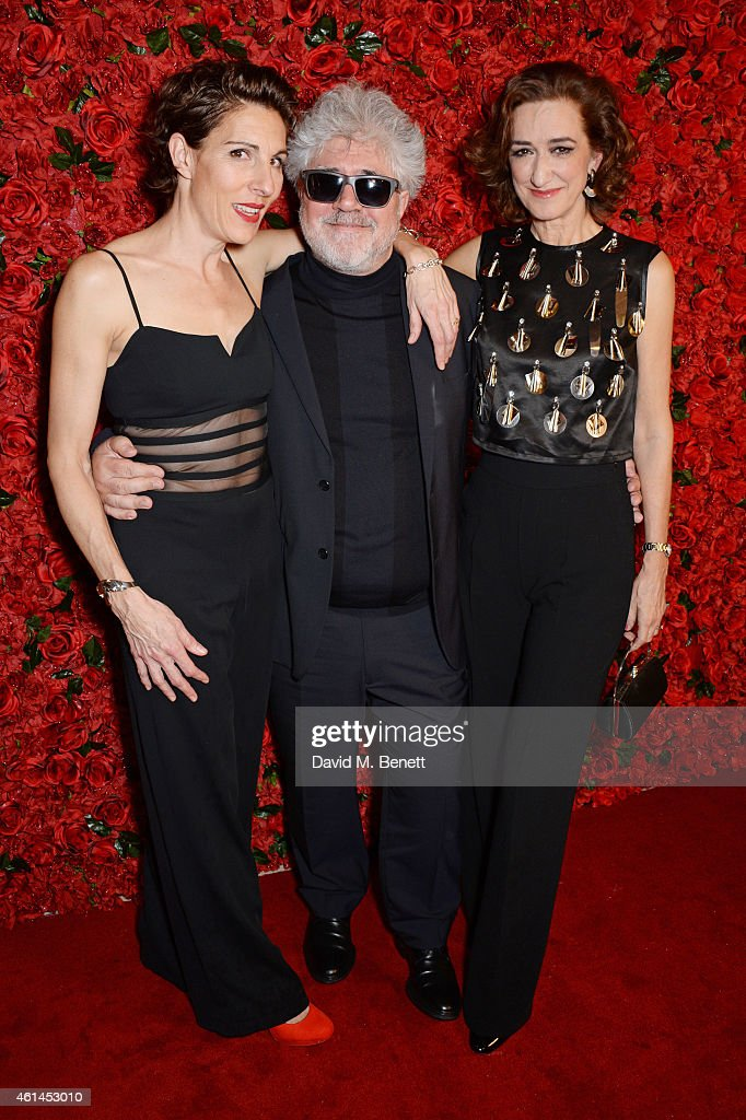 Tamsin Greig Pedro Almodovar and Haydn Gwynne attend an after party following the press night performance of 'Woman On The Verge Of A Nervous...