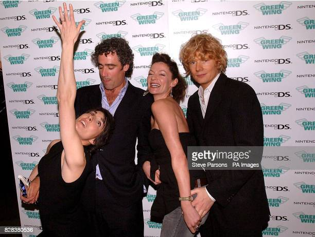 Tamsin Grieg Stephen Mangan Michelle Gomez and Julian RhindTutt during a cocktail reception to mark the special screening of 'Green Wing series II'...