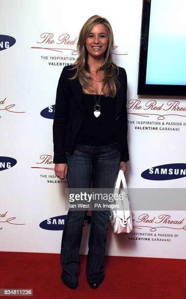 Tamsin Outhwaite arrives at the Samsung Imagination Series Event The Red Thread The Inspiration and Passion of Valentino Garavani Premiere at The...