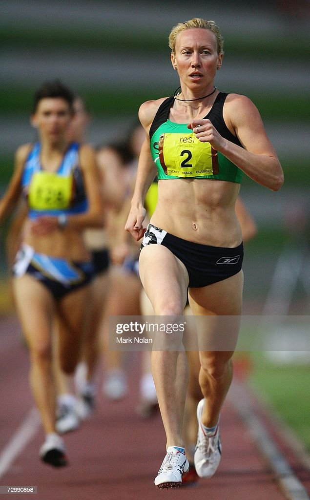 Tamsyn Lewis Of Victoria Competes In The Womens 800 Meter Race During Sydney Track Classic