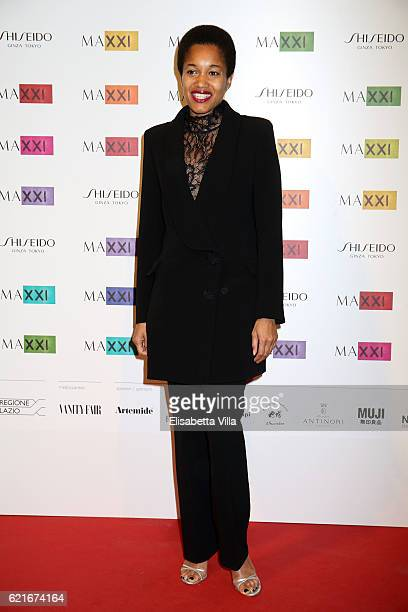 Tamu McPherson attends a photocall for the MAXXI Acquisition Gala Dinner 2016 at Maxxi Museum on November 7 2016 in Rome Italy