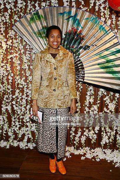 Tamu McPherson attends Chinese New Year Party at Mandarin Oriental on February 8 2016 in Milan Italy
