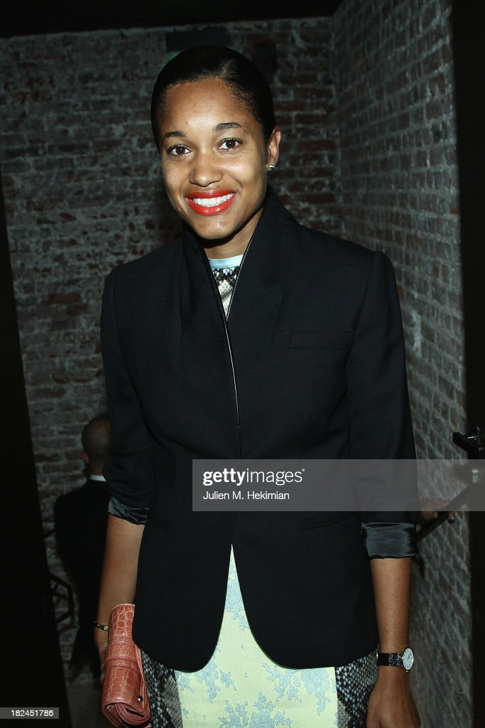 Tamu McPherson attends the Glamour dinner for Patrick Demarchelier as part of the Paris Fashion Week Womenswear Spring/Summer 2014 at Monsieur Bleu restaurant on September 29, 2013 in Paris, France.