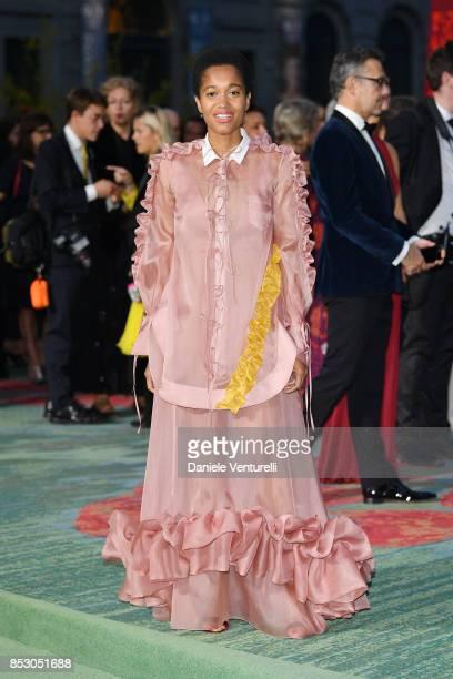 Tamu McPherson attends the Green Carpet Fashion Awards Italia 2017 during Milan Fashion Week Spring/Summer 2018 on September 24 2017 in Milan Italy