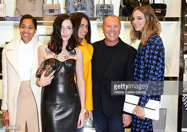 Tamu McPherson Eleonora Carisi Viviana Volpicella Michael Kors and Candela Novembre attend Michael Kors To celebrate Milano opening on December 4...