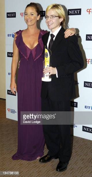 Tamzin Outhwaite and Oli Lewington during Cystic Fibrosis Trust Breathing Life Awards Press Room at Royal Lancaster Hotel in London Great Britain