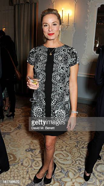 Tamzin Outhwaite attends the launch of 'Solo' the new James Bond novel written by William Boyd at The Dorchester on September 25 2013 in London...