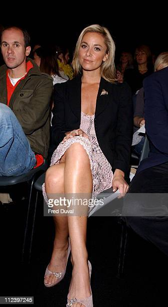 Tamzin Outhwaite during London Fashion Week Ronit Zilkha Front Row at BFC Tent London Fashion Week in London United Kingdom