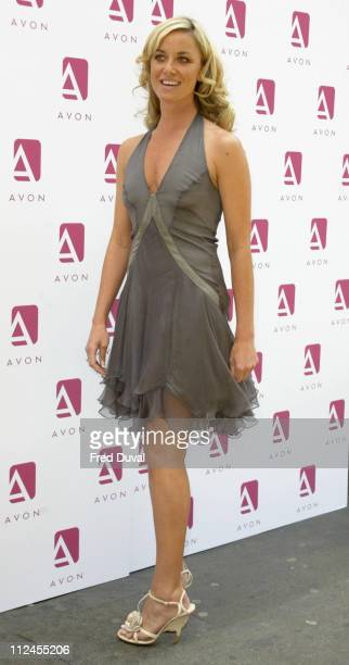 Tamzin Outhwaite during Tamzin Outhwaite Hosts Launch of New Avon Colour Range at The Rex Cinema Rupert Street in London United Kingdom
