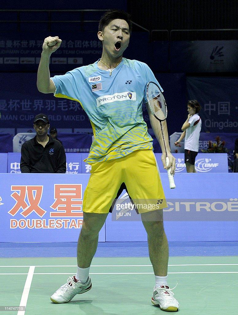 Tan Boon Heong of Malaysia celebrates wi