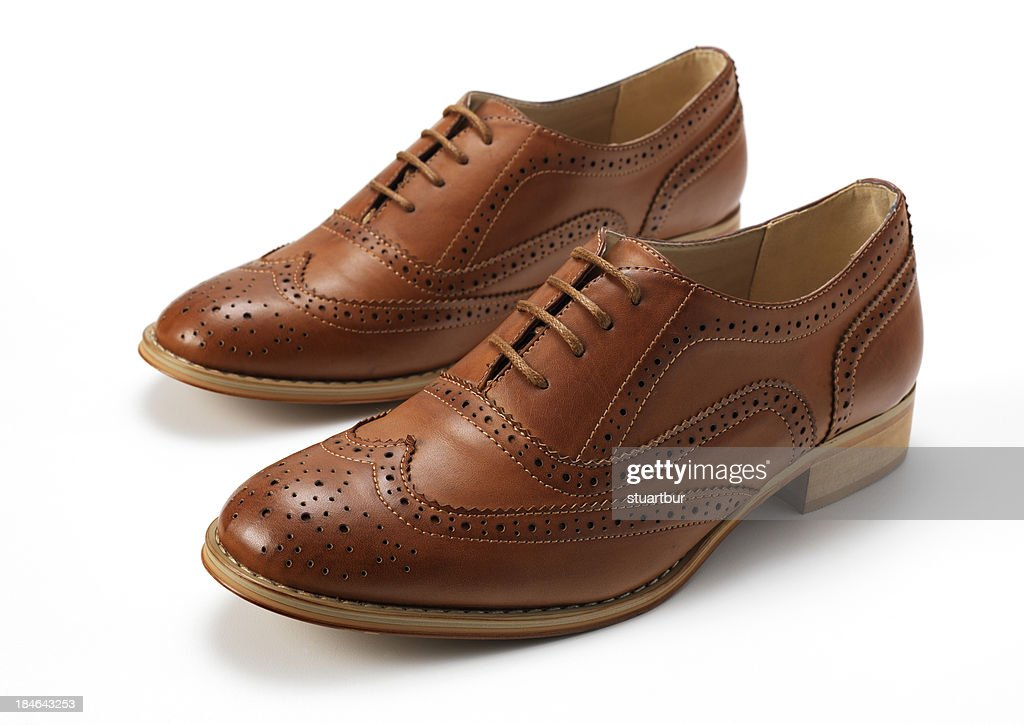 Tan Brogues