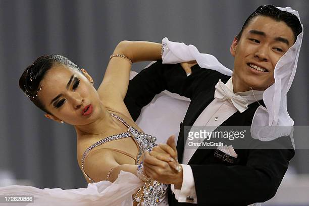 Tan Hui Tien and partner Lim Swie King of Malaysia compete in the Dancesport Standard Waltz semifinal at Samsan World Gymnasium during day 6 of the...