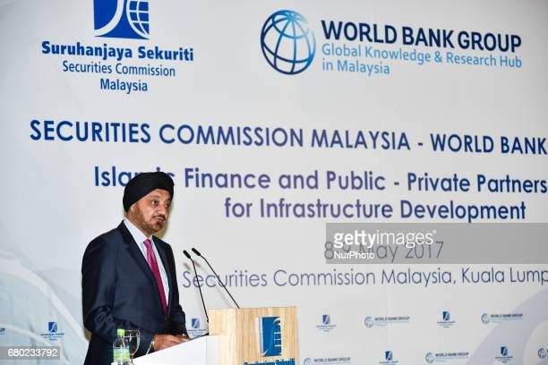 Tan Sri Dato Seri Ranjit Ajit Singh Chairman of Securities Commission Malaysia speaks during Islamic Finance and PublicPrivate Partnership for...