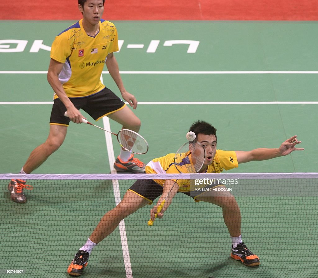 Tan Wee Kiong R and Goh V Shem of Malaysia in action against
