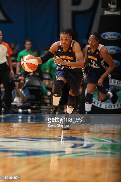 Tan White of the Connecticut Sun on a fast break during the WNBA preseason game on May 21 2013 at Target Center in Minneapolis Minnesota NOTE TO USER...