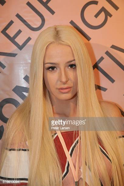 Tana Mongeau attends the 2nd Annual Beautycon Festival at Centennial Hall Fairpark on March 19 2016 in Dallas Texas