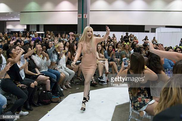 Tana Mongeau walks onstage at the 4th Annual Beautycon Festival Los Angeles at the Los Angeles Convention Center on July 9 2016 in Los Angeles...