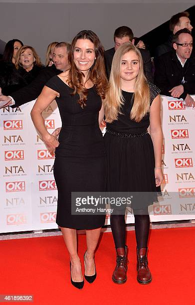 Tana Ramsay and daughter Matilda attend the National Television Awards at 02 Arena on January 21 2015 in London England