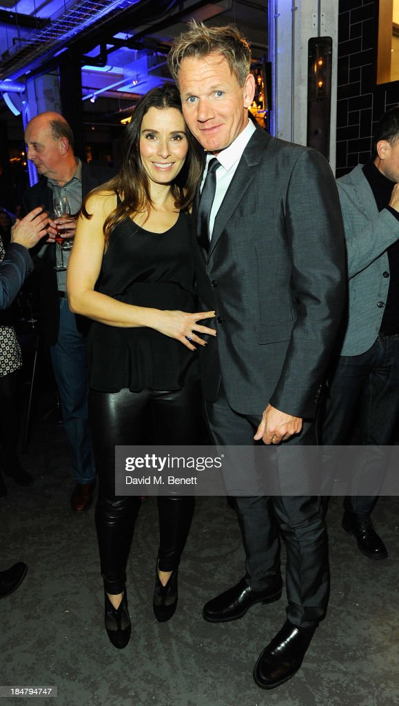 Tana Ramsay and Gordon Ramsay attend Gordon Ramsay's Union Street Cafe in Southwak on October 16 2013 in London England