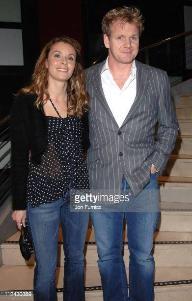 Tana Ramsay and Gordon Ramsay during The Harpers MOeet Restaurant Awards 2005 at Floridita in London Great Britain