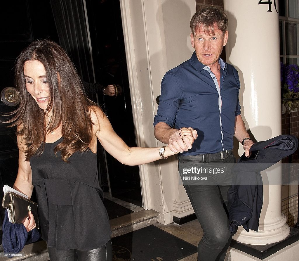 Tana Ramsay and Gordon Ramsey are seen leaving the Arts Club Mayfair on April 27 2014 in London England