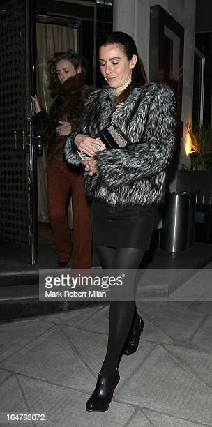 Tana Ramsay at Locanda Locatelli restaurant on March 27 2013 in London England
