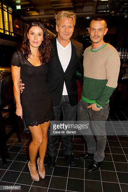 Tana Ramsay Gordon Ramsay and Jonathan Saunders attend an aftershow party following Jonathan Saunders Spring/Summer 2012 catwalk show during London...