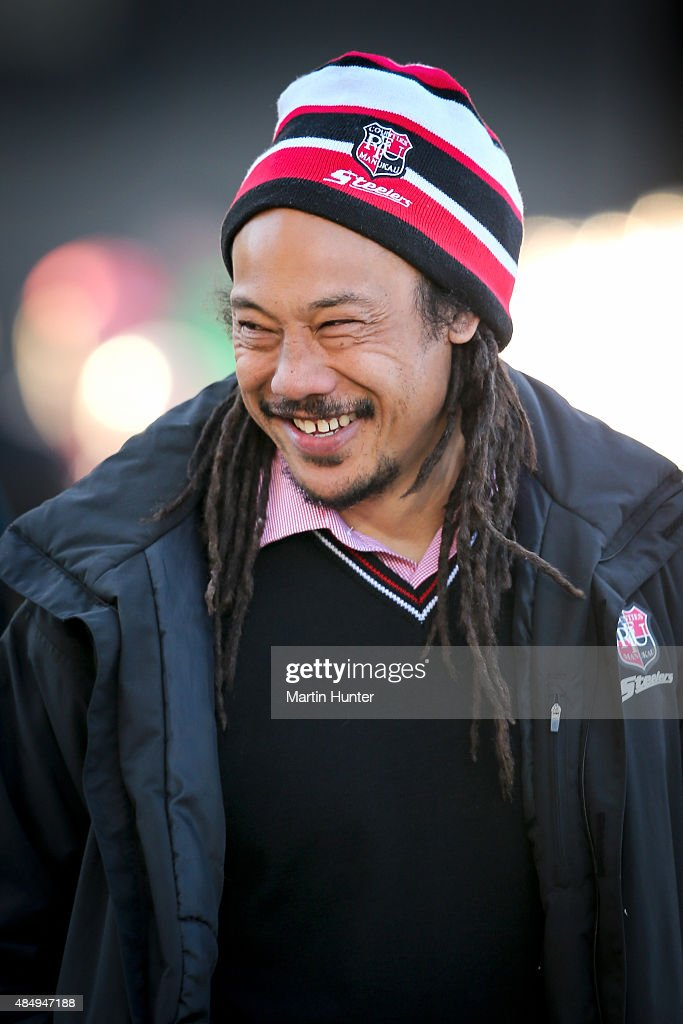 <a gi-track='captionPersonalityLinkClicked' href=/galleries/search?phrase=Tana+Umaga&family=editorial&specificpeople=203218 ng-click='$event.stopPropagation()'>Tana Umaga</a>, Counties Manukau head coach looks on prior to the start of round two ITM Cup match between Canterbury and Counties Manukau at AMI Stadium on August 23, 2015 in Christchurch, New Zealand.