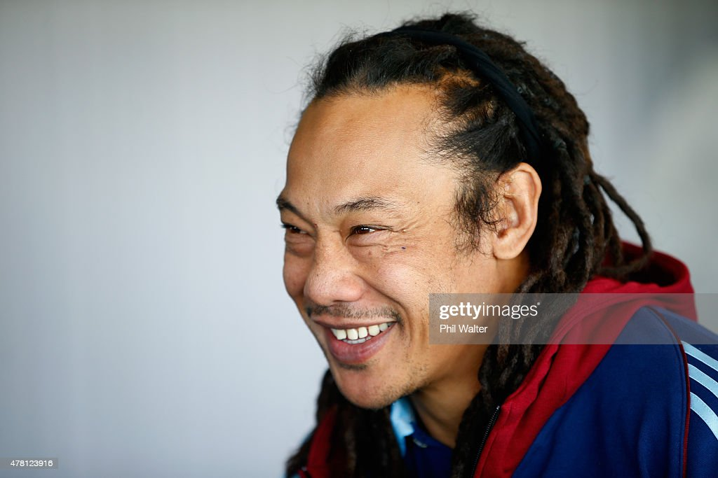 <a gi-track='captionPersonalityLinkClicked' href=/galleries/search?phrase=Tana+Umaga&family=editorial&specificpeople=203218 ng-click='$event.stopPropagation()'>Tana Umaga</a> is announced as the Blues Head Coach during a Blues Super Rugby press conference at Alexandra Park on June 23, 2015 in Auckland, New Zealand.