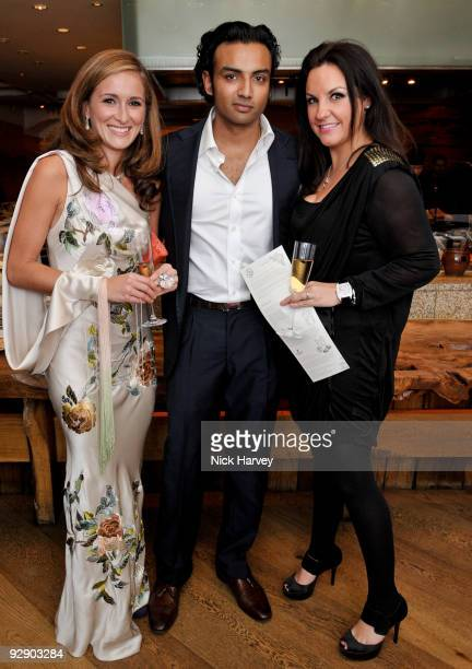 Tanaz Dizadji and guest with Alex Russell attend a Japanese evening in aid of Pratham on November 8 2009 in London England