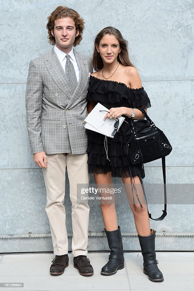Tancredi Montezemolo and Clotilde Montezemolo attend the Emporio Armani show as a part of Milan Fashion Week Womenswear Spring/Summer 2014 on September 20, 2013 in Milan, Italy.