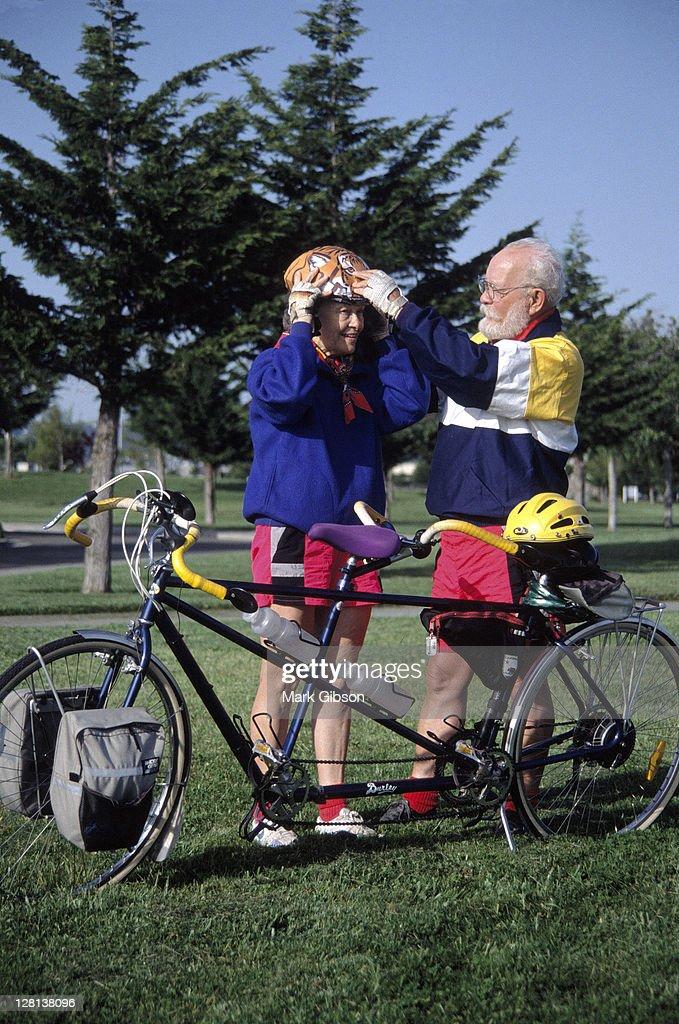 Tandem bike, Richmond, CA : Stock Photo