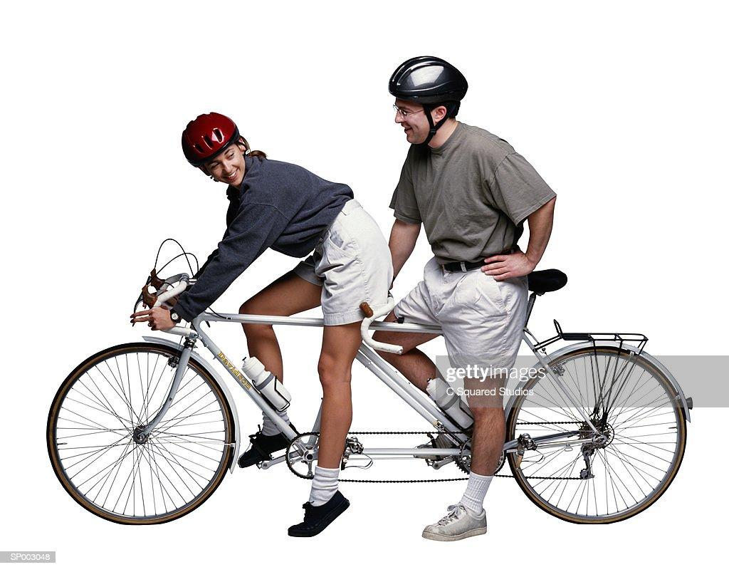 Tandem Biking : Stock Photo
