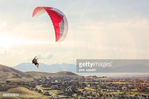 Tandem Paraglide : Stock Photo