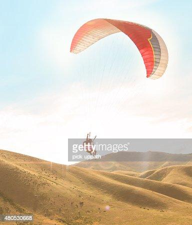 Tandem Paraglide : Bildbanksbilder