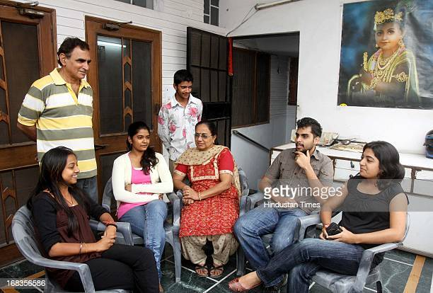 Taneja with the Mauritians who went for the Vaishno Devi trip on October 29 2010 in New Delhi India