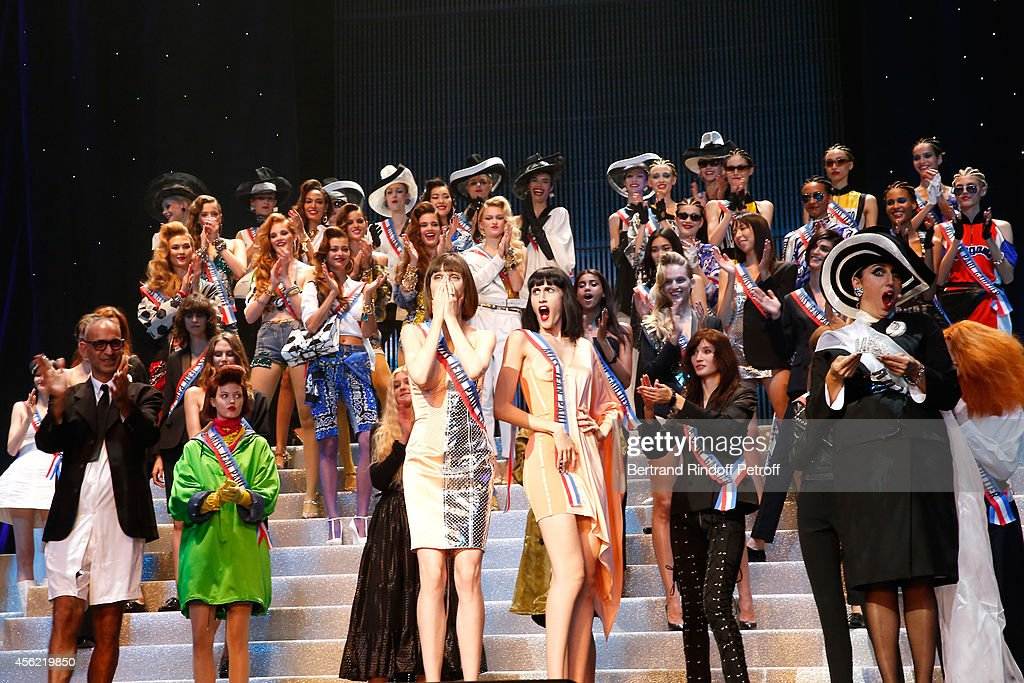 Tanel, actress Rossy de Palma and models performs at the last Jean Paul Gaultier Womenswear show as part of the Paris Fashion Week Womenswear Spring/Summer 2015. Held at 'Le Grand Rex' on September 27, 2014 in Paris, France.