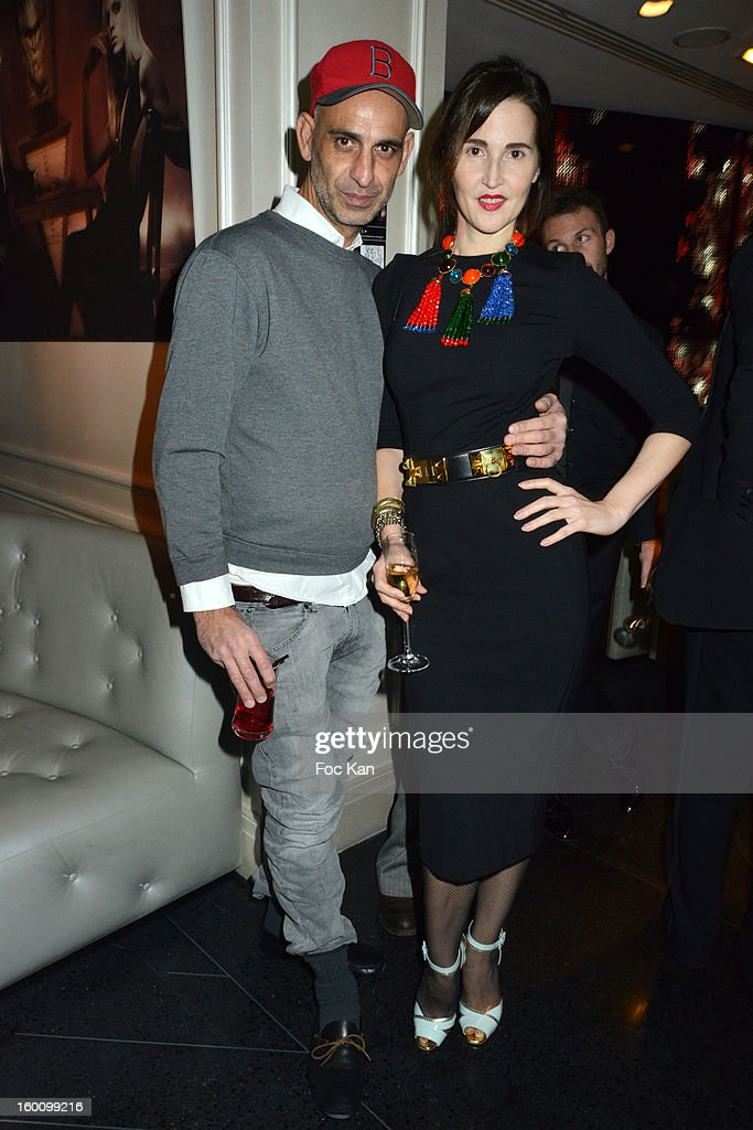 Tanel and Suzanne Von Aichinger attend the 'Body Double' Ali Mahdavi Exhibition Preview Cocktail At Hotel W on January 25, 2013 in Paris, France.