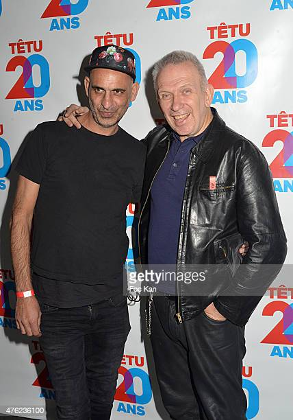 Tanel Bedrossiantz and Jean Paul Gaultier attend the Tetu' Magazine 20th Anniversary Party at the YoYo Club on June 6 2015 in Paris France