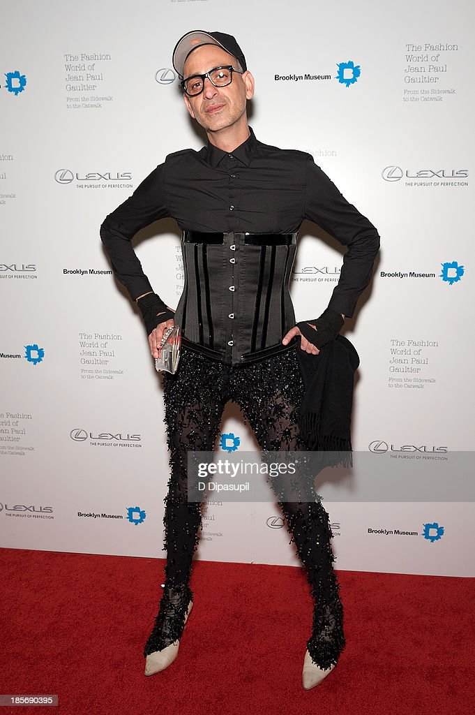 Tanel Bedrossiantz attends the VIP reception and viewing for The Fashion World of Jean Paul Gaultier: From the Sidewalk to the Catwalk at the Brooklyn Museum on October 23, 2013 in the Brooklyn borough of New York City.