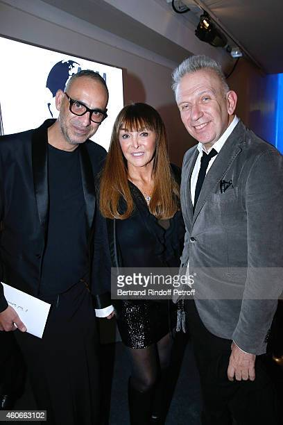 Tanel Bedrossiantz Organizer of the dinner Babeth Djian and Fashion Designer JeanPaul Gaultier attend the Annual Charity Dinner hosted by the AEM...
